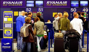 Ryanair queue