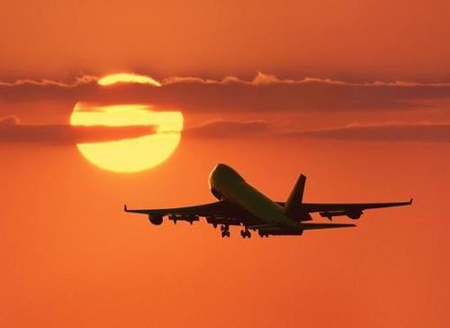 Malaga airport sunset
