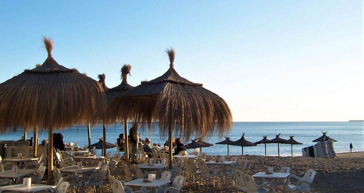 Malaga beach winter