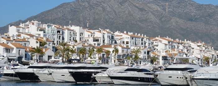 Photo of Puerto Banus in summer season, Malaga