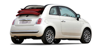 fiat 500 cabrio automatic car hire or similar 4 car in malaga. Black Bedroom Furniture Sets. Home Design Ideas