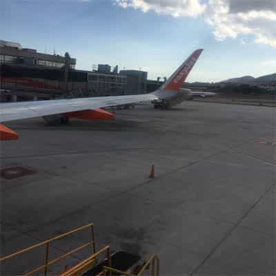 EasyJet and Ryanair airlines are present at the airport