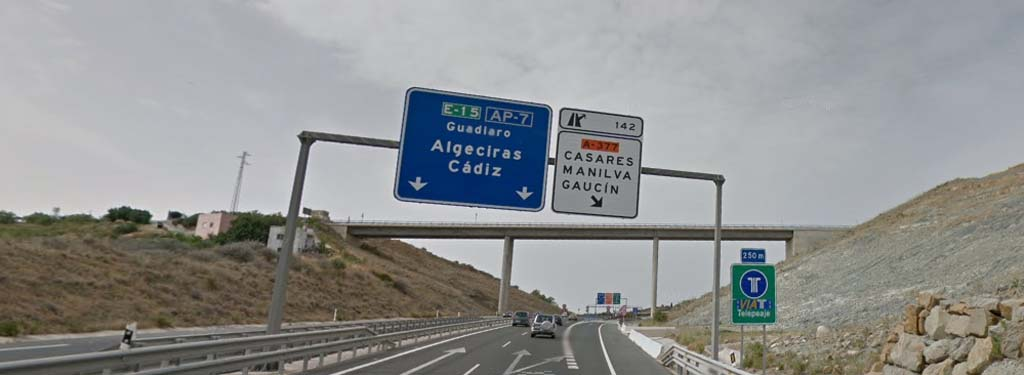 Directions to Manilva, Casares and Gaucin