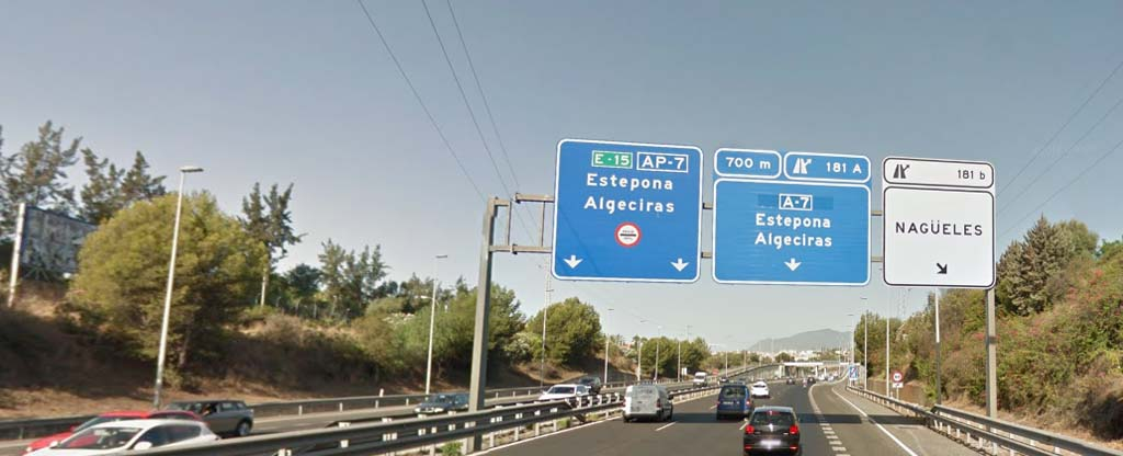 Malaga Airport to Benahavis by road
