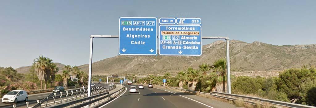 Exit to Torremolinos and Palacio de Congresos
