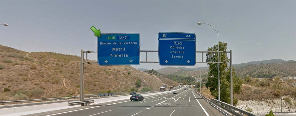 Direction to Almeria to get to Torrox