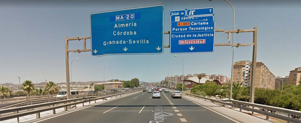 Direction to take to get from Malaga airport to Torrox