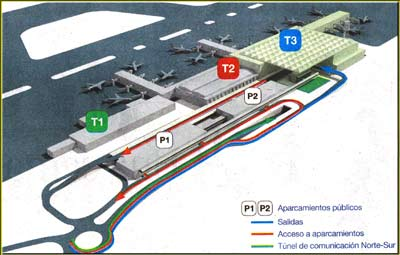 Terminals at Malaga airport