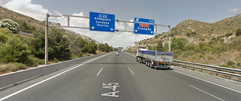 Malaga Airport to Antequera by road