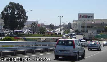 Exit road from Malaga airport
