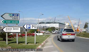 Localizacion como llegar al aeropuerto de malaga y distancias for Como llegar al ministerio del interior